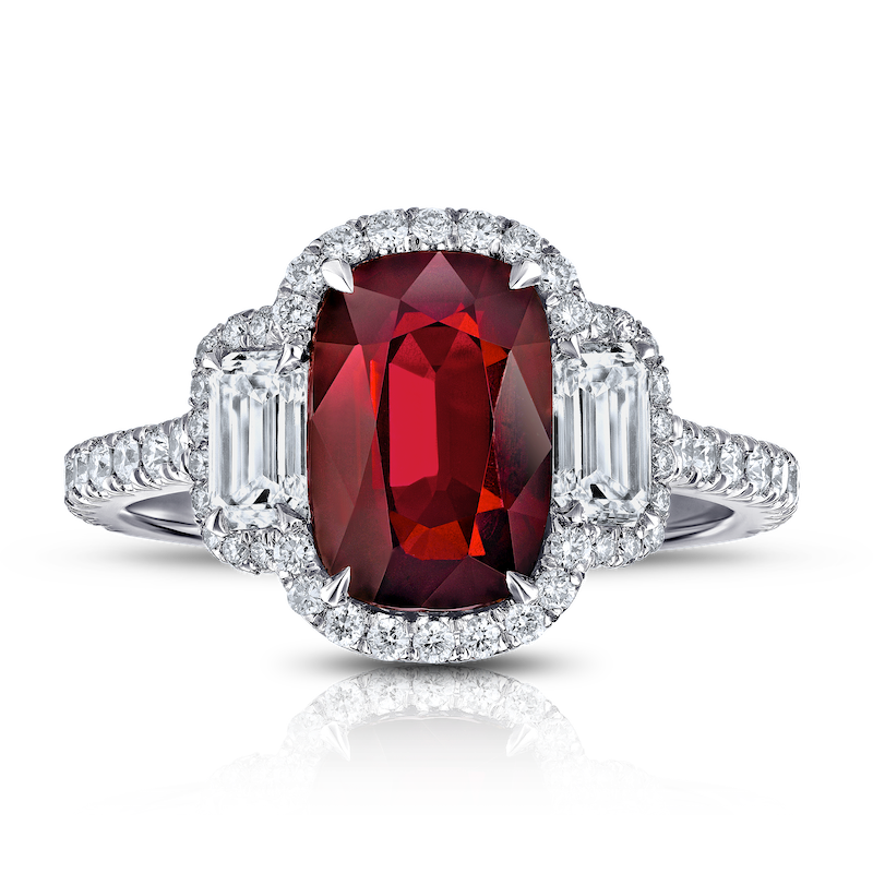 View Ruby (cushion) & Diamond Ring