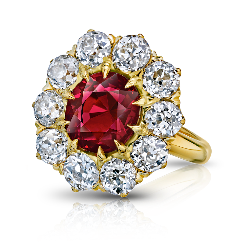 View  Ruby (NH / Burma) & Diamond Ring
