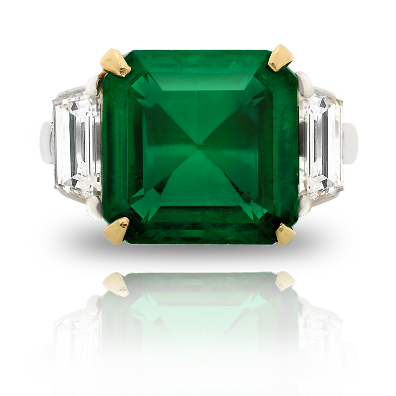 View Emerald and Diamond Ring