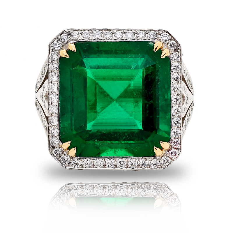 View Emerald and Diamond Ring by Garrard