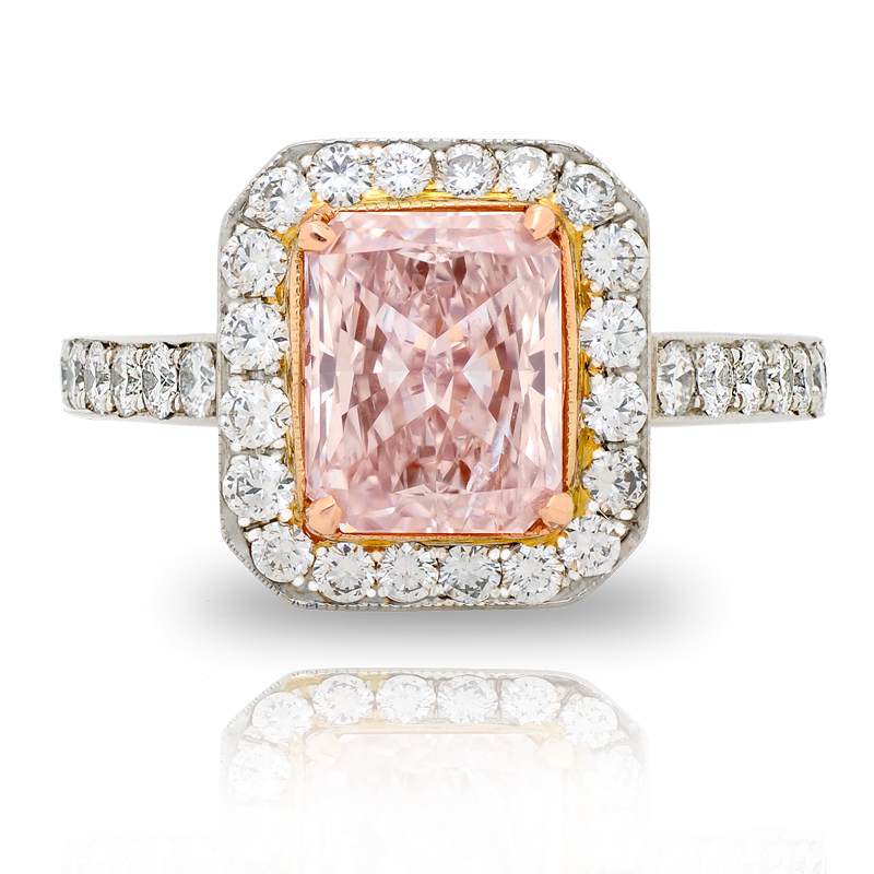 View Fancy Light Pink Diamond Ring