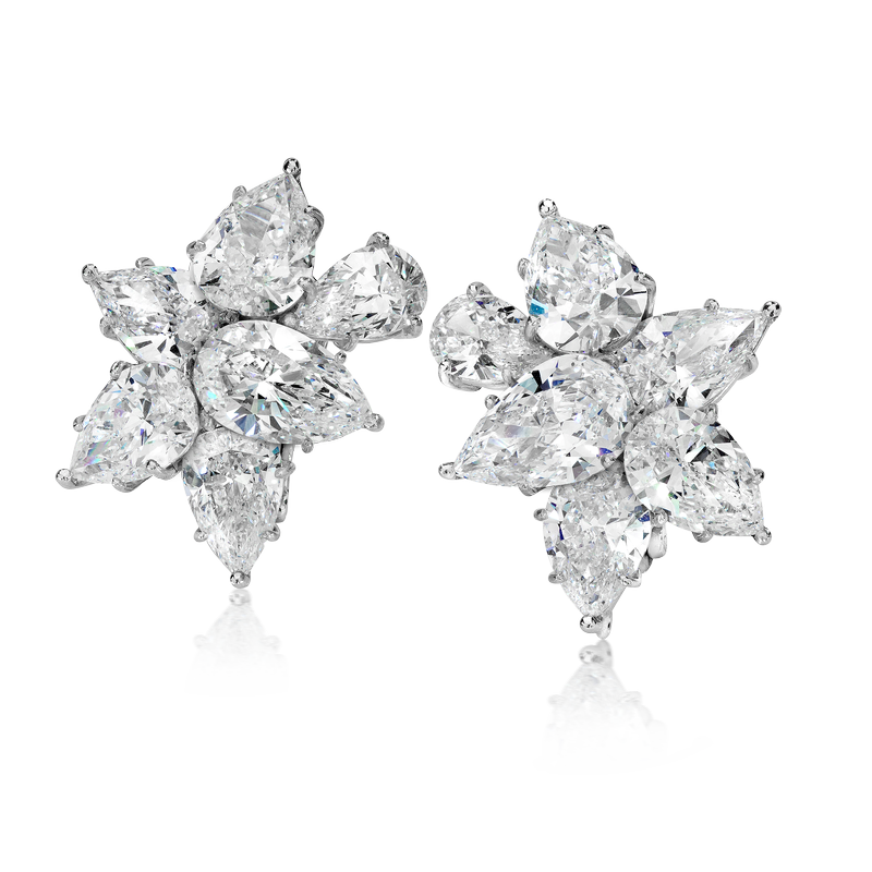 View Diamond Cluster Ear Clips