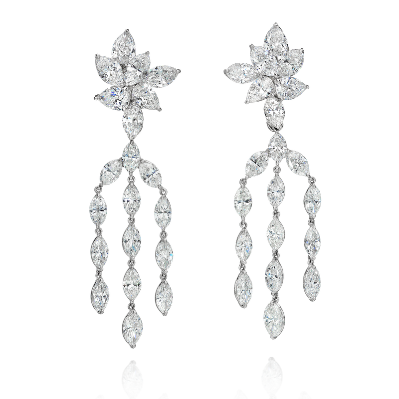 View Chandelier Diamond Earrings