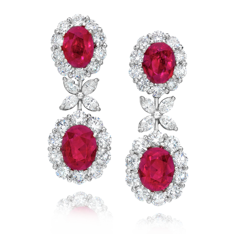View Ruby and Diamond Earrings