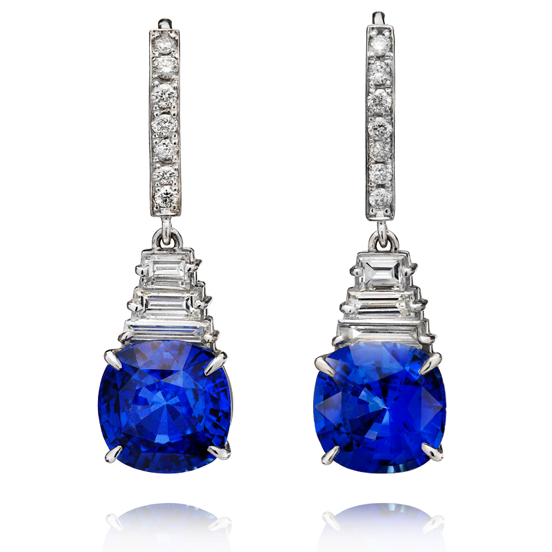 View Sapphire and Diamond Earrings