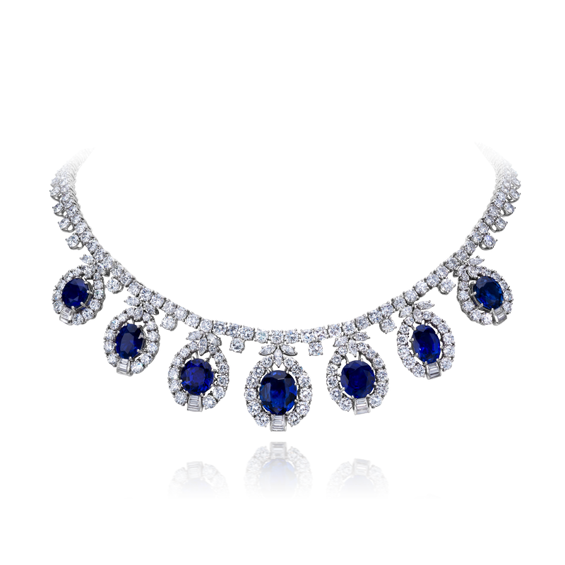 View Sapphire and Diamond Necklace