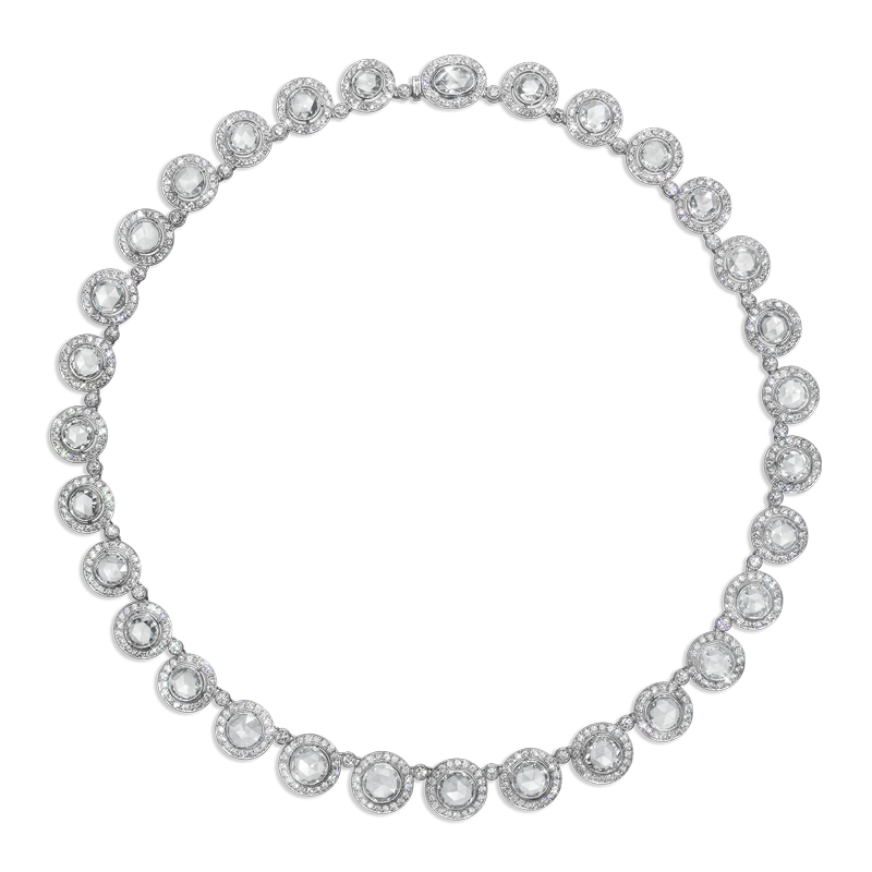 View Rosecut Diamond Necklace